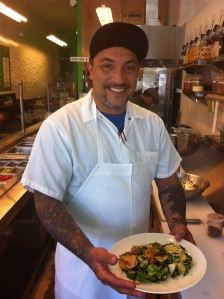 Joey Gibson-Rivas is the new chef at Urban Garden, cooking up delicious Mediterranean and Lebanese inspired dishes.