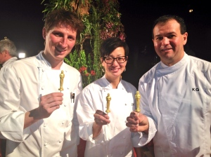 Wolfgang Puck's Pastry Chefs - Romain Lenoir, Della Gosset and Kamel Guechida