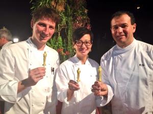 Wolfgang Puck's Pastry Chefs - Romain Lenoir, Della Gosset and Kamel Guechida