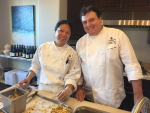 Chefs Elie Chow and Bernard Ibarra from Terranea
