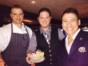 Chef Chris Turano, mixologist Will Cutting and friendly GM Mario Leal-Cruz Jr.