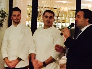Chef Pascal Lorange with Sous Chef and Laurent Halasz