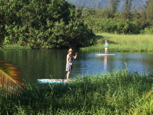 (Photo of writer on Paddle Board)