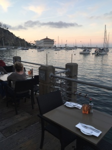 (Best dining views in Avalon at Bluewater Grill. Photo by Jill Weinlein)