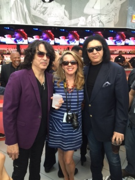(Wearing our sunglasses - KISS Rockers with writer)