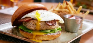 Chicken Cobb Egg Burger at Public School. Photo courtesy of Public School