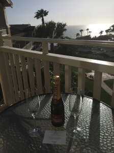 Sipping Bubbly at Sunset