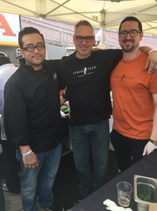 Chef Isaias Peña and owners Owner Paul Boettcher and son - Spare Tire Kitchen + Bar