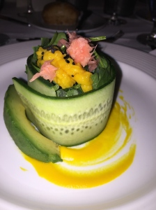 First Course at the WHCHC Gala at London West Hollywood - Photo by Jill Weinlein