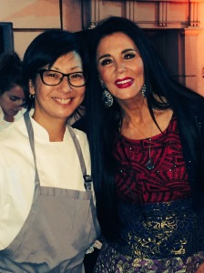 (Restauranteur and Interior Designer Barbara Lazaroff with Pastry Chef Della Gossett - Photo by Jill Weinlein)