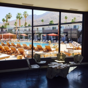 (View from the lobby of the V Palm Springs - Photo by Jill Weinlein)