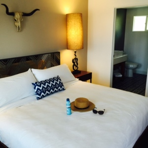(A Standard Room at V Palm Springs - Photo by Jill Weinlein)