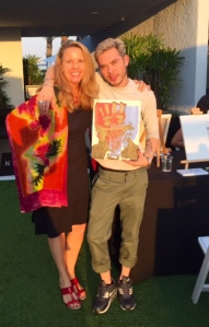 Gage John Lazare with writer at rooftop of The London Hotel