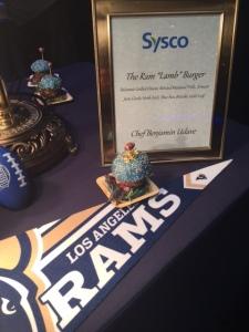 LA Rams themed food. Photo by Jill Weinlein