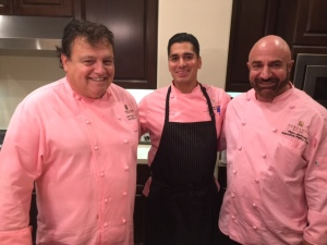 Executive Chef Bernard Ibarra with Pastry Chef Piero Jermonti and sous chef. Photo by Jill Weinlein