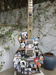 Rock and Roll memorabilia  decorate the grounds - Photo by Jill Weinlein