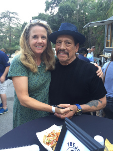 Actor and Restauranteur Danny Trejo with writer.