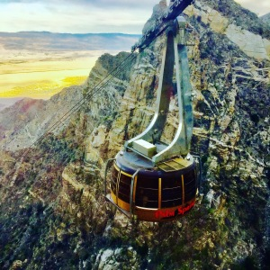 The new tram cars rotate 360 degrees on a cable to the top on San Jacinto state park wilderness - Photo Jill Weinlein