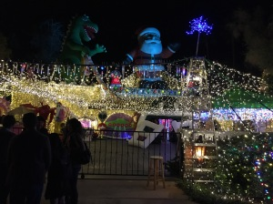 The most amazing holiday light and sound show in Palm Springs- Photo by Jill Weinlein