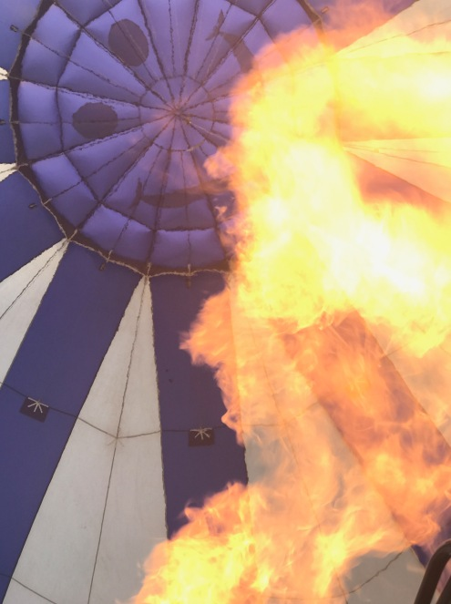Balloons are inflate by propane