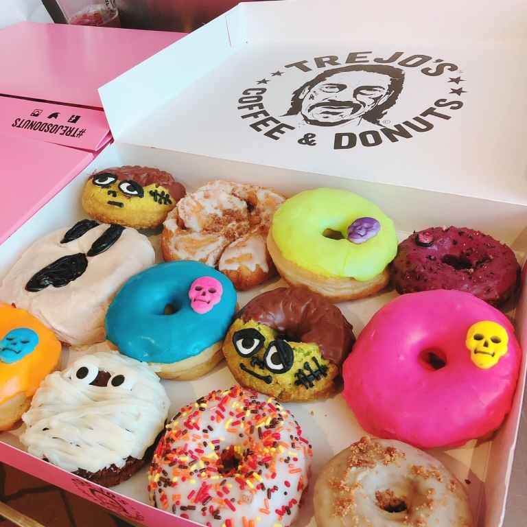 trejo's coffee and donuts halloween donuts