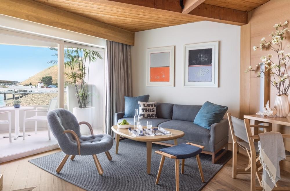 Malibu Beach Inn room 317 in Malibu, CA.  Photographed by Lisa Romerein